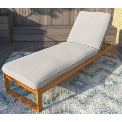 Guion Chaise Lounge with Cushion Fabric: Beige
