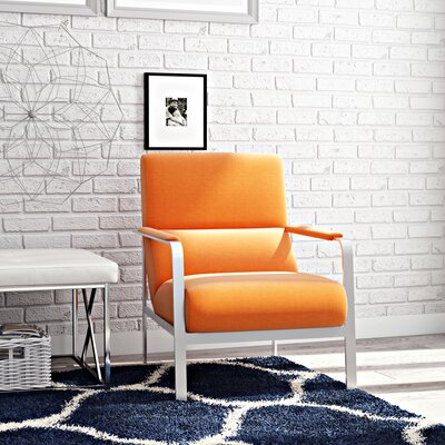 Mooring Armchair Upholstery: Orange