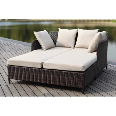 Outdoor 4 Piece Deep Seating Group with Cushions Finish: Titanium, Fabric: Sand