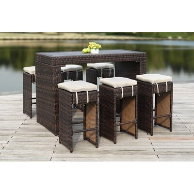 Mcgrady 5 Piece Dining Set Finish: Titanium/Sand