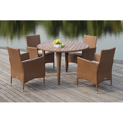 Mcgrady 5 Piece Dining Set Finish: Toasted Almond