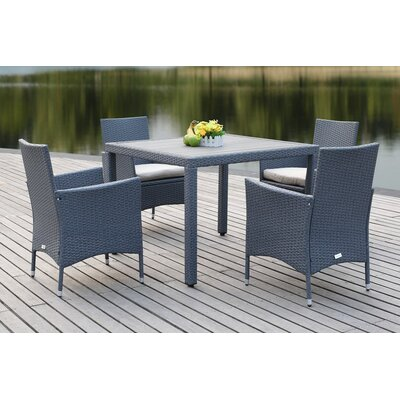 Mckenny 5 Piece Dining Set Finish: Brown