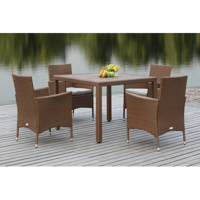 Mckenny 5 Piece Dining Set Finish: Toasted Almond