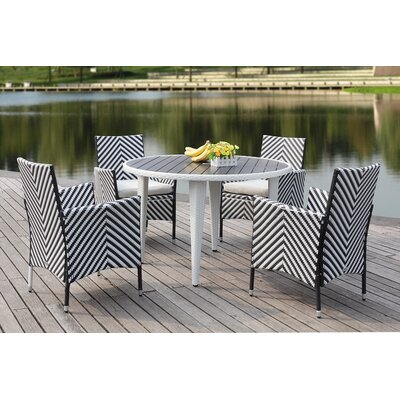 Mcgrady 5 Piece Dining Set Finish: Grey / White