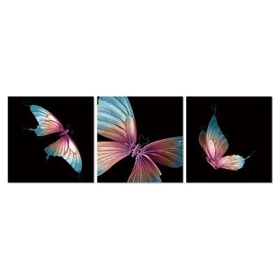 'Evolution' 3 Piece Graphic Art Print Set on Wrapped Canvas