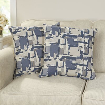 Shuff Mosaic Print Throw Pillow Color: Blue, Size: Small