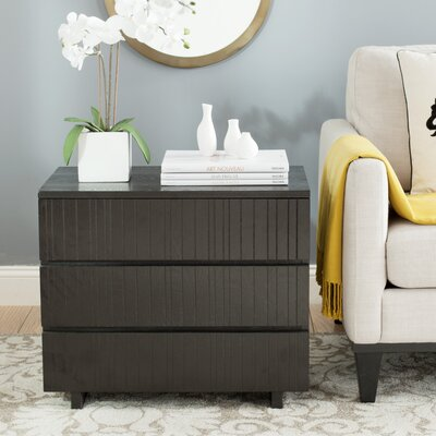 Camarena 3 Drawer Chest Color: Black
