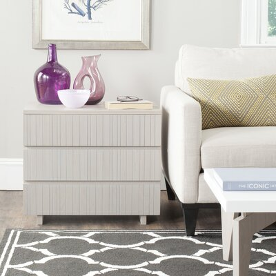 Camarena 3 Drawer Chest Color: Grey