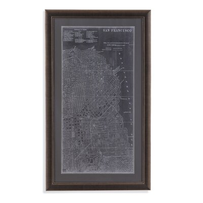 Graphic Map of San Francisco Framed Graphic Art