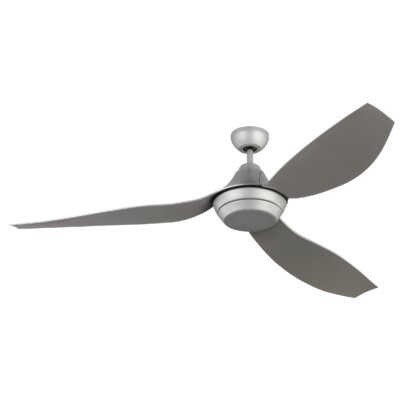 64 Dorsch 3 Blade Ceiling Fan with Remote Finish: Gray