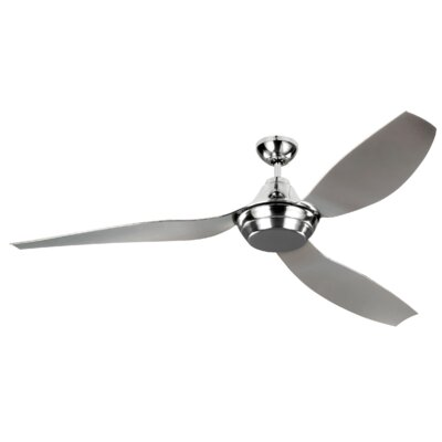 64 Colonial Place 3 Blade Ceiling Fan with Remote Finish: Quicksilver