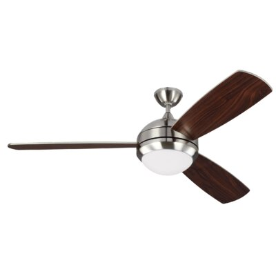 58 Carreon 3 Blades Ceiling Fan with Remote Finish: Brushed Steel
