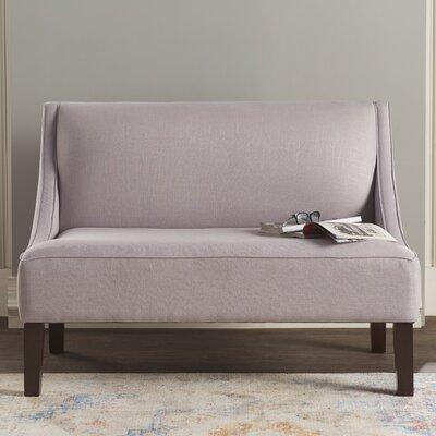 Linen Swoop Arm Settee Upholstery: Smokey Quartz