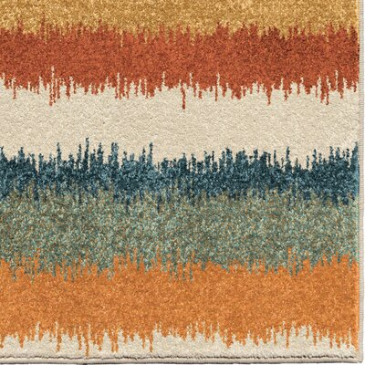 Fussell Orange/Ivory Area Rug