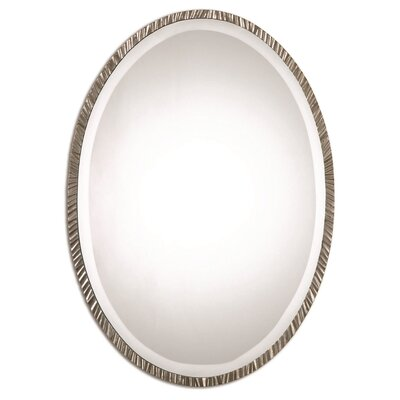 Oval Polished Nickel Wall Mirror