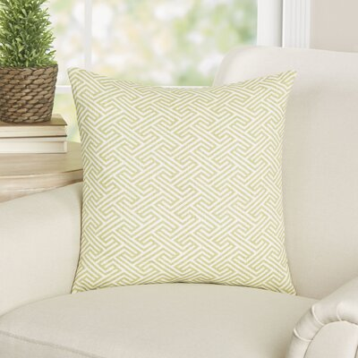 Alcala Geometric Cotton Throw Pillow Color: Spring Green, Size: 18 H x 18 W