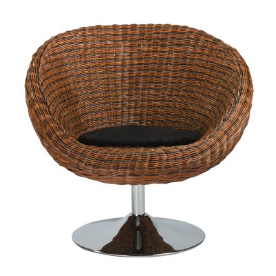 Renninger Swivel Lounge Chair Finish: Rattan