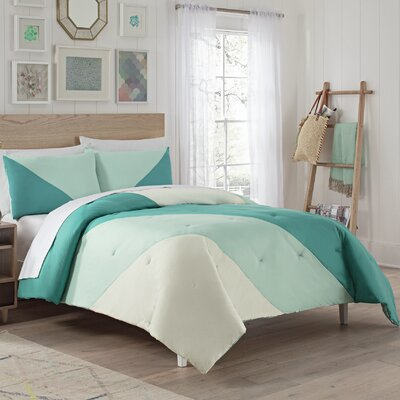 Eggers Comforter Set Color: Peacock, Size: King