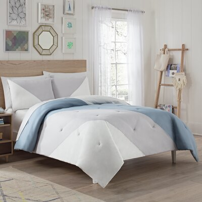 Eggers Comforter Set Color: Sky, Size: King