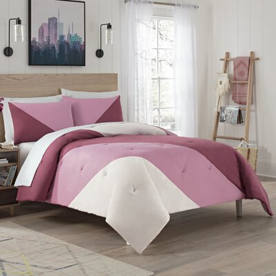 Eggers Comforter Set Color: Mauve, Size: King
