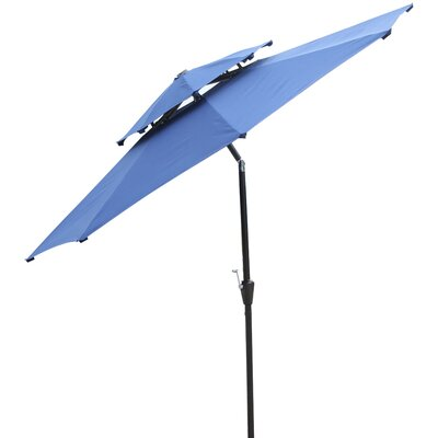 Dimond 9 Market Umbrella Fabric: Blue
