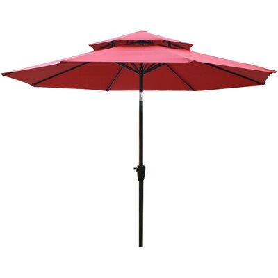 Dimond 9 Market Umbrella Fabric: Red