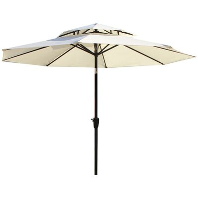 Dimond 9 Market Umbrella Fabric: Beige