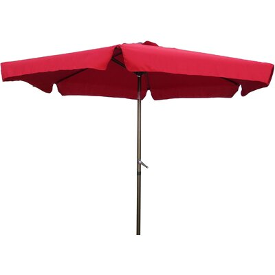 9 Hyperion Drape Umbrella Fabric: Ruby Red