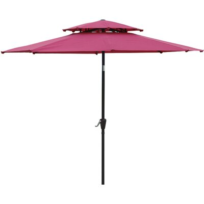 Dimond 9 Market Umbrella Fabric: Wine Red