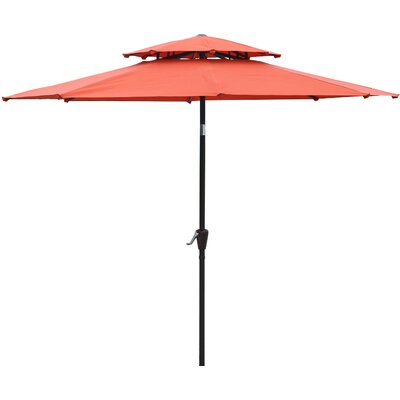 Dimond 9 Market Umbrella Fabric: Orange