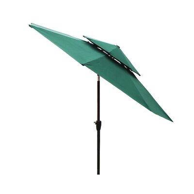 Dimond 9 Market Umbrella Fabric: Dark Green