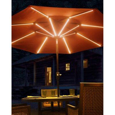 Brayden Studio 9' Llanes Illuminated Umbrella