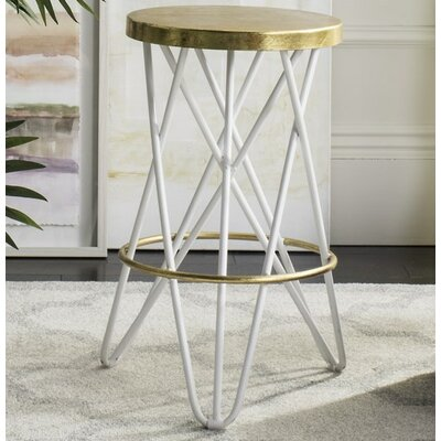 Buell 24 Bar Stool Finish: White