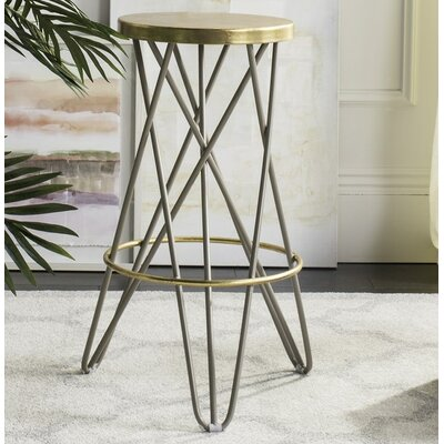 Amulet 30 inch Bar Stool Finish: Beige/Gold