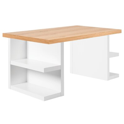 Durkee Dining Table Finish: Oak / White