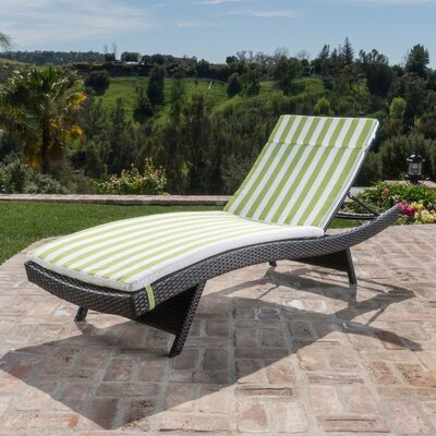 Chantrell Wicker Chaise Lounge with Cushion