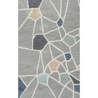 Rigoberto Hand-Tufted Gray Area Rug Rug Size: Runner 26 x 8