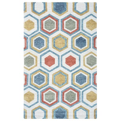 Thibaud Hand-Tufted Multi Area Rug Rug Size: Rectangle 5 x 8