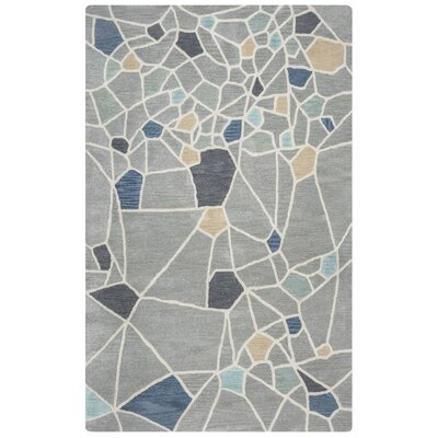 Rigoberto Hand-Tufted Gray Area Rug Rug Size: Rectangle 5 x 8