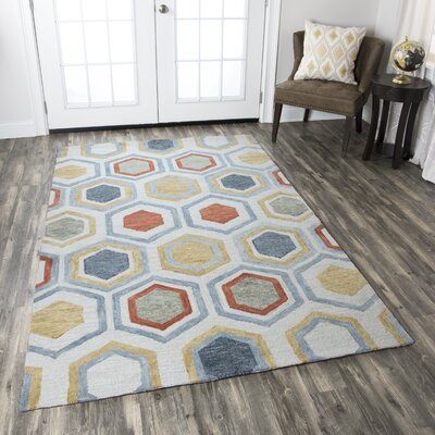 Thibaud Hand-Tufted Multi Area Rug Rug Size: Rectangle 9 x 12