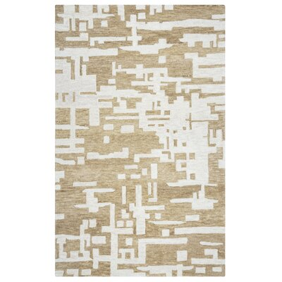 Morpheus Hand-Tufted Brown/Off White Area Rug Size: 5 x 8