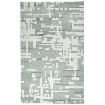 Morpheus Hand-Tufted Gray/Off White Area Rug Size: 5 x 8