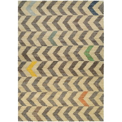 Lopp Hand Woven Linen/Cocoa Area Rug Rug Size: Rectangle 96 x 136