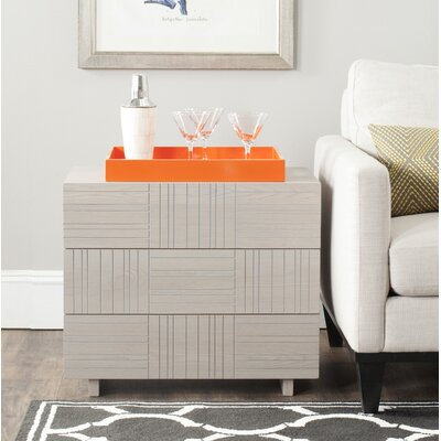 Funderburg 3 Drawer Chest Finish: Grey