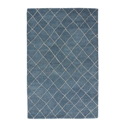 Englert Hand-Tufted Wool Blue/Ivory Area  Rug Rug Size: Rectangle 2 x 3
