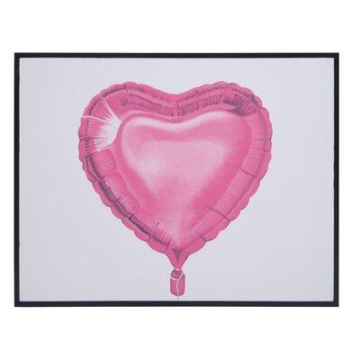 'Balloon Love' Framed Graphic Art Print on Canvas
