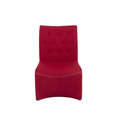 Knowle Lounge Chair Upholstery: Red