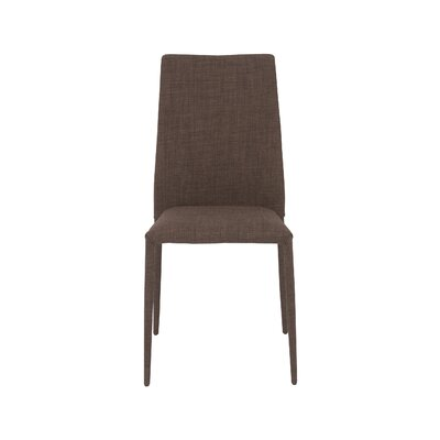 Garr Side Chair Upholstery: Brown