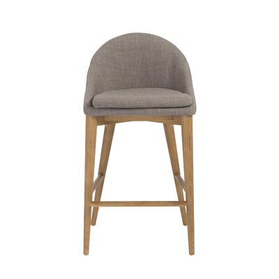 Cogdill 26 Bar Stool Upholstery: Dark Gray