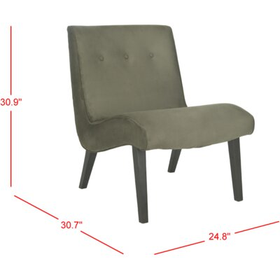 Soules Side Chair Upholstery: Forest Green